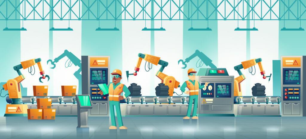 ligne de production industrielle
